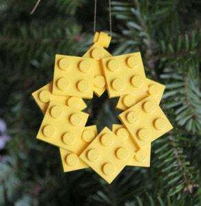 Weihnachtskugel Lego Stern