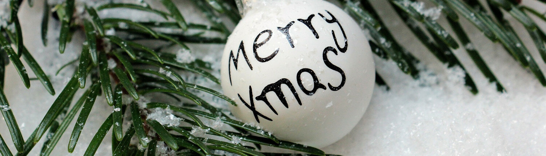 Weihnachtskugel Merry X-Mas