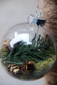 nustikale weihnachtsbaumkugel natur material